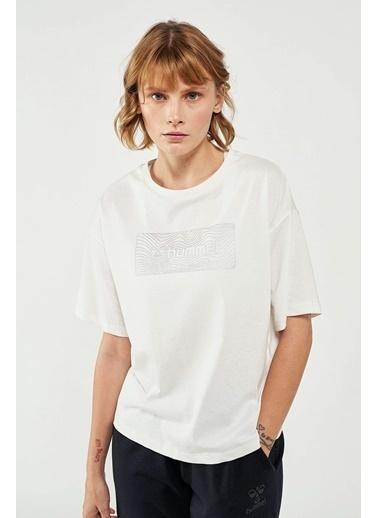Hummel Kadın Tişört Wawy 911375-9003 Beyaz